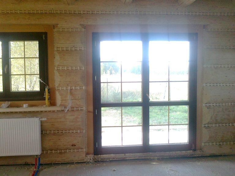 drzwi tarasowe wdomu zbali drewnianych