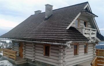 zdjecie domu zbali drewnianych okraglych